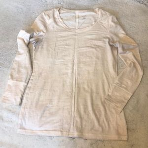 Long sleeve cream/gold top. Size XS